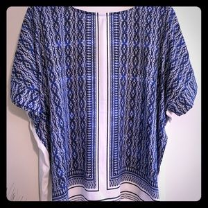 Royal Blue Silk Pattern Top